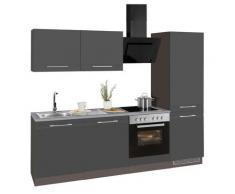 HELD MÖBEL Küchenzeile Mito grau Küchenzeilen ohne Geräte -blöcke Küchenmöbel Arbeitsmöbel-Sets