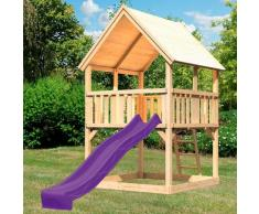 ABUKI Spielturm Lenie, BxTxH: 200x200x345 cm beige Kinder Outdoor-Spielzeug