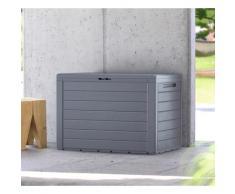 Prosperplast Auflagenbox Boxe Board grau Garten- Kissenboxen Gartenmöbel Gartendeko