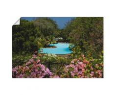 Artland Wandbild Swimmingpool bunt Bilder Bilderrahmen Wohnaccessoires