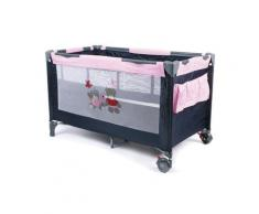 CHIC4BABY Baby-Reisebett Luxus Pink Checker, inkl. Tragetasche blau Baby Reisebetten Babybetten Babymöbel