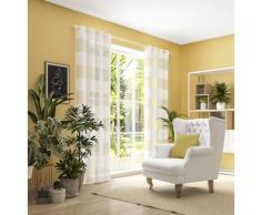 Neutex for you Vorhang SONORA, 3D Musterung im Leinen-Look weiß Wohnzimmergardinen Gardinen nach Räumen Vorhänge