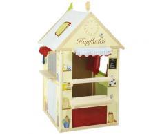 roba Spielhaus Kombination, Maße: LxB: 94,5x82,5cm, Kaufladen, Post, Kiosk oder Bank, Kaspertheater bunt Kinder Outdoor-Spielzeug