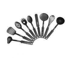STONELINE Kochbesteck-Set, (Set, 9 tlg.), Kunststoff, mit Stütze schwarz Kochbesteck Besteck Messer Haushaltswaren Kochbesteck-Set