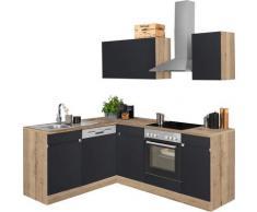 OPTIFIT Winkelküche Roth, ohne E-Geräte, Stellbreite 210 x 175 cm grau L-Küchen Küchenzeilen -blöcke Küchenmöbel Arbeitsmöbel-Sets