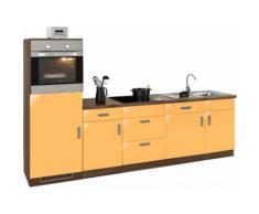 wiho Küchen Küchenzeile Tacoma EEK A orange Küchenzeilen mit Geräten -blöcke Küchenmöbel Arbeitsmöbel-Sets