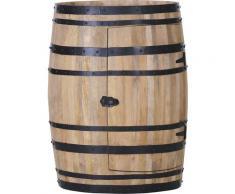 Gutmann Factory Bartisch, Dekofass, originelle Aufbewahrung für Gläser und Flaschen, Hausbar braun Bartisch Bartische, Theken Tresen Barmöbel Küchenmöbel