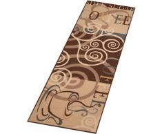 Küchenläufer, Coffee Ornament, Zala Living, rechteckig, Höhe 8 mm, maschinell getuftet braun Küchenläufer Läufer Bettumrandungen Teppiche