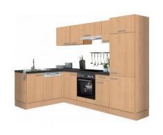 OPTIFIT Winkelküche Odense, ohne E-Geräte, Stellbreite 275 x 175 cm, mit 28 mm starker Arbeitsplatte, Gratis Besteckeinsatz beige Küchenzeilen Küchenblöcke Küchenmöbel Möbel sofort lieferbar