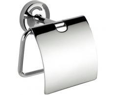 WENKO Toilettenpapierhalter Arcole, mit Deckel, Power-Loc silberfarben WC-Zubehör Badaccessoires Badmöbel