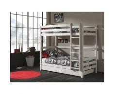Vipack Etagenbett Pino, wahlweise mit Bettschublade weiß Kinder Hochbetten Kinderbetten Betten