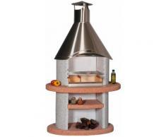 WELLFIRE Grillkamin Duna Colora, BxTxH: 110x73x192 cm grau Grillkamine Grill Haushaltsgeräte Grills