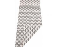 bougari Läufer Tahiti, rechteckig, 5 mm Höhe, In- und Outdoor geeignet, Wendeteppich grau Teppichläufer Bettumrandungen Teppiche