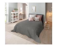 Home affaire Tagesdecke Melli, auch als Tischdecke und Sofaüberwurf einsetzbar grau Baumwolldecken Decken