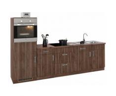 wiho Küchen Küchenzeile Tacoma braun Küchenzeilen ohne Geräte -blöcke Küchenmöbel Arbeitsmöbel-Sets