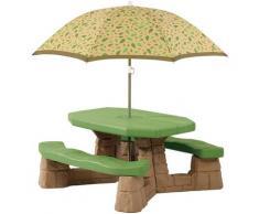 Step2 Kindersitzgruppe, Picknicktisch, BxTxH: 109x104x152 cm braun Kinder Kinderstühle Kindermöbel Kindersitzgruppe