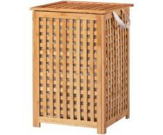 welltime Wäschekorb Bambus, 40 cm breit beige Badmöbel