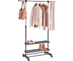 Zeller Present Garderobenständer schwarz Garderoben