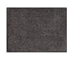 Home affaire Fußmatte Noyack, rechteckig, 7 mm Höhe grau Designer Fußmatten