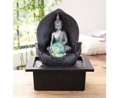 Home affaire Zimmerbrunnen »Silver Buddha«, schwarz