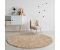 Home affaire Hochflor-Teppich Viva, rund, 45 mm Höhe, gewebt, Wohnzimmer grau Schlafzimmerteppiche Teppiche nach Räumen