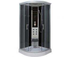 Sanotechnik Komplettdusche Relax, mit Sitz silberfarben Duschkabinen Duschen Bad Sanitär