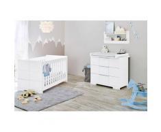 Pinolino Babyzimmer-Komplettset Polar (Set 2-tlg), weiß, weiß