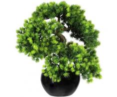 Creativ green Kunstbonsai Bonsai Lärche (1 Stück) grün Kunstpflanzen Wohnaccessoires
