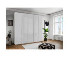 WIEMANN Falttürenschrank Monaco, mit Glasfront sowie hochwertige Beschläge weiß Kleiderschränke Schränke Vitrinen Möbel sofort lieferbar