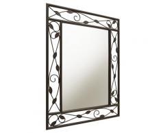 Wandspiegel, aus Metall braun Spiegel Schlafzimmeraccessoires Schlafzimmer Landhaus Charme