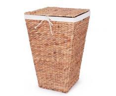 Franz Müller Flechtwaren Wäschebox Wasserhyazinthe beige Wäschetonnen Wäschekörbe Wäschetruhen Badmöbel Wäschesammler