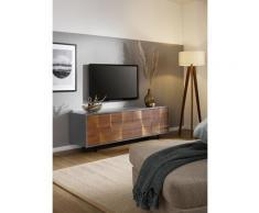 Premium collection by Home affaire Lowboard Avery, mit dekorativen Fräsungen aus Eiche massiv, Breite 165 cm beige Lowboards Kommoden Sideboards