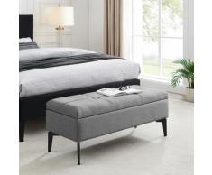 INOSIGN Bettbank Galina, Sitzfläche gesteppt, mit Strauraum grau Bettbänke Sitzbänke Stühle