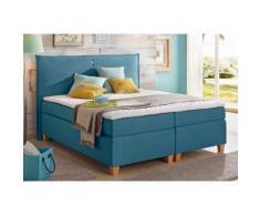 Home affaire Boxspringbett Maxim blau Doppelbetten Betten Komplettbetten