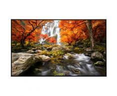 Papermoon Infrarotheizung Herbst Wasserfall, sehr angenehme Strahlungswärme bunt Heizkörper Heizen Klima