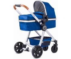 knorr-baby Kombi Kinderwagen Set, »For You, blau mit Gestell in silber«, blau, Unisex, blau-silber
