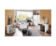 arthur berndt Jugendzimmer-Set, (5 St., Bett + 3 trg. Schrank Schreibtisch Regalwagen Lowboard), mit Melamin-Oberfläche weiß Kinder Jugendzimmer-Set Kindermöbel Möbel sofort lieferbar