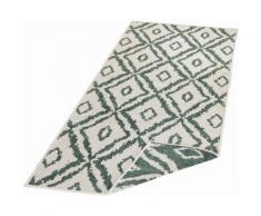 bougari Läufer Rio, rechteckig, 5 mm Höhe, Wendeteppich, Rauten Design, In- und Outdoor geeignet, Wohnzimmer grün Teppichläufer Bettumrandungen Teppiche