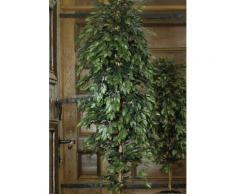 Kunstpflanze Ficus Benjamini, grün, grün