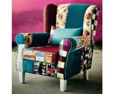 INOSIGN Patchwork- Sessel «Angela plus», mit Zierkissen, bunter Farb- und Mustermix, bunt, Patchwork