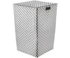 Kleine Wolke Wäschebox Double Laundry, 35 cm Breite grau Badaccessoires