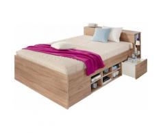 Breckle Bett, beige, struktureichefarben hell
