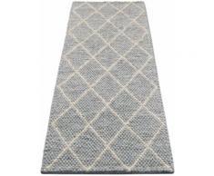 Läufer, Lior, My HOME, rechteckig, Höhe 10 mm, handgewebt grau Teppichläufer Läufer Bettumrandungen Teppiche