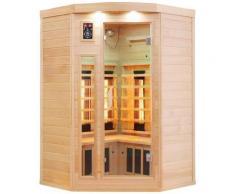 Dewello Infrarotkabine Lakefield, für bis zu 2 Personen beige Infrarotkabinen Sauna Bad Sanitär