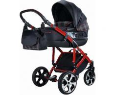 knorr-baby Kombi Kinderwagen Set, »Volkswagen GTI«, schwarz, Unisex, schwarz-rot