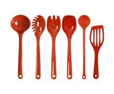 WACA Kochbesteck-Set, (Set, 5-tlg.) rot Kochbesteck Besteck Messer Haushaltswaren Kochbesteck-Sets