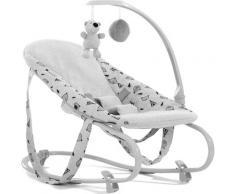 Hauck Hochstuhlaufsatz Alpha Bouncer Deluxe, Nordic Grey bis, 9 kg, für Neugeborene, mit Spielbogen grau Baby Ab Geburt Altersempfehlung