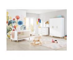 Pinolino Babyzimmer-Komplettset Lumi, (Set, 3 St.), breit groß; mit Kinderbett, Schrank und Wickelkommode; Made in Europe weiß Baby Babybetten Babymöbel Möbel sofort lieferbar