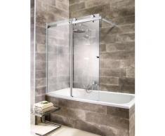 welltime Badewannenaufsatz Mauritius, mit Schiebetür silberfarben Duschwände Duschen Bad Sanitär