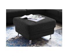 3C Carina Polsterhocker Korfu, passend zur Korfu -Serie, Easy Care-Stoff: Reinigung mit Wasser möglich grau Sessel und Hocker Sofas Couches